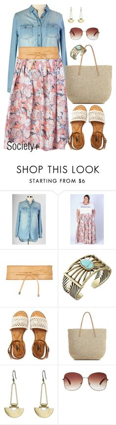 """""""Plus Size Twirl Maxi Skirt - Society+"""" by iamsocietyplus on Polyvore featuring Lucky Brand, Aéropostale, Target, Forever 21, plussize, plussizefashion and societyplus"""
