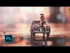 (32) How To Make Miniature Photo Style Effects - Photoshop manipulation tutorials - YouTube