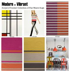 Check out the entire Frontier collection of awesome color blocked rugs at www.surya.com
