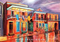 The Frenchmen Hotel New Orleans Painting