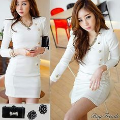 I want! White and classy dress