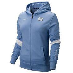 @Fanatics ® #FanaticsWishList Nike North Carolina Tar Heels (UNC) Ladies Full Zip Performance Hoodie Jacket - Carolina Blue