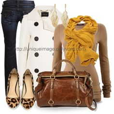 Bobble Knit Scarf in Casual Outfit