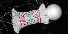 ChristmasBall:Ball:maggieb! Smocking Patterns, Smocking Plates, Ornaments Design, Handmade Ornaments, Ornament Crafts, Christmas Ornament, Christmas Crafts, Christmas Sewing, Heirloom Sewing