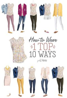 How to Wear 1 Floral Top 10 Ways – Just Posted Preppy Dresses, Casual Outfits, Cute Outfits, Fashion Outfits, Fashion Tips, Casual Clothes, Work Outfits, Spring Summer Fashion, Spring Outfits