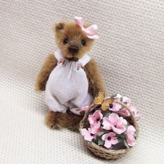 Teddybear, Bears, Miniatures, Artist, Animals, Fondant Teddy Bear, Animales, Animaux, Artists