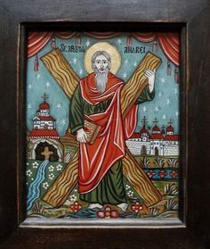 Byzantine Art, Ikon, Folk, Frame, Glass, Pictures, Painting, Home Decor, Vows