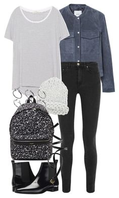 """""""Untitled #2053"""" by eleanorwearsthat ❤ liked on Polyvore featuring MANGO, Acne Studios, Zara, Yves Saint Laurent, Michael Kors, H&M, ASOS, women's clothing, women and female"""