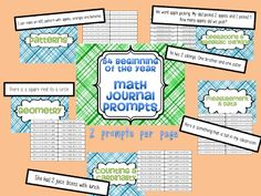 54 Beginning of the year math journal prompts for Kindergarten