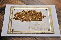 engagement card wedding card handmade best wishes card with gold tree wedding congratulations card engagement card by oscar & ollie. $10.50, via Etsy.