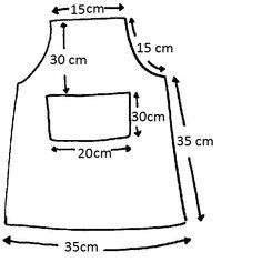 Patrones de delantales de cocina - Imagui