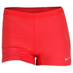 NIKE WOMENS SLAM TENNIS SHORT FUSION RED