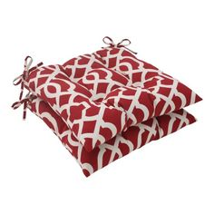 Pillow Perfect IndoorOutdoor New Geo Tufted Seat Cushion Red Set of 2 -- Locate the offer simply by clicking the VISIT button