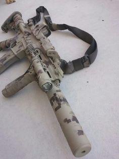 Suppressed digicam defense rifle