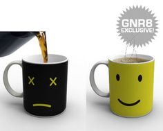 It's a Monday morning mug ... it's heat activated, so when you pour your coffee in it turns into a smile! :)