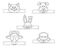 vingerpopjes dieren / animals fingerpuppet