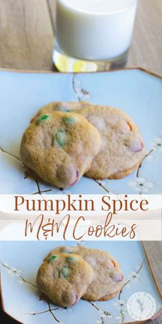 Soft and chewy Pumpkin Spice M Best Cookie Recipes, Pumpkin Recipes, Sweet Recipes, Appetizer Recipes, Snack Recipes, Dessert Recipes, Bar Recipes, Cookbook Recipes, Kitchen Recipes