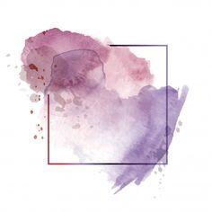 Fondo Acuarela Abstracto Púrpura Oscuro Claro Con Marco Poligonal