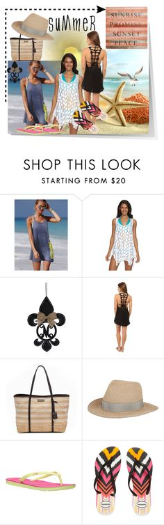 """Summer Sun"" by summer-marin ❤ liked on Polyvore featuring Victoria's Secret, Beach Scene, Billabong, Dana Buchman, Eugenia Kim, NIKE, Havaianas and Second Nature By Hand"