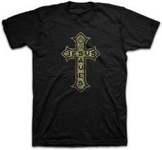 All shirt sizes Jesus Saves Cross Tee - JTbliss