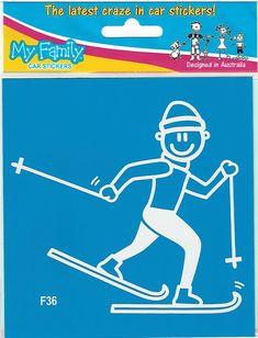 Wintersport sticker van vader die langlauft. Family Car Stickers, Daddy, Cross Country, Sticker Design, Ski, Sports, Autos, Long Distance, Decals