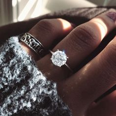 Loving this sparkling solitaire engagement ring! #IWRings