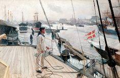 Albert Edelfelt - Kööpenhaminan ankkuripaikalta I, 'From the port of Copenhagen I', 1890