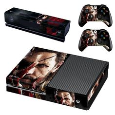 Metal Gear Solid V The Phantom Pain xbox one skin decal for console and 2 controllers