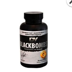 Dorian Yates Nutrition Black Bombs DMAA Free Tablets (90) Fat Burner #DorianYatesNutrition