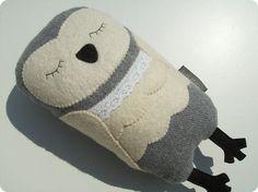 Lena the snowy owl van Bakarasz op Etsy