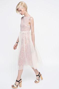 SHEER STRIPED DRESS  by MROVCA