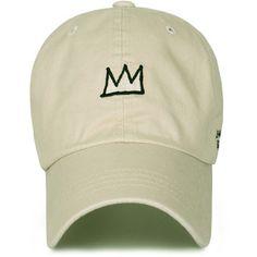 Jean-Michel Basquiat Cotton Cute Crown Embroidery Curved Hat Baseball Cap (ballcap-1345)