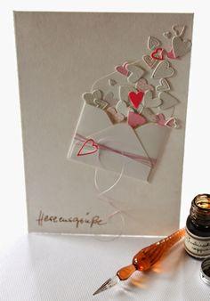 ....Herzensgrüße.... DIY Karte mit Herzen selbermachen