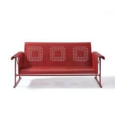 $449 Amazon.com: Crosley Furniture Veranda Sofa Glider - Coral Red: Patio, Lawn & Garden