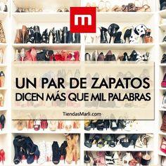 """""""Un par de zapatos dicen más que mil palabras"""".  #TiendasMarli #MarliAdicta #Friday #Frases #AmoLosZapatos"""