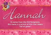 the name Hannah means full of grace