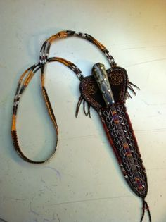 Contemporary Makers: Steve Lodding Dagger with Shawn Webster Quillwork Sheath