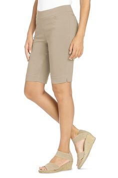 Classic Fit Pull-On Bermuda Shorts by Slim-Sation®: #Travelsmith $30.00 - $69.95