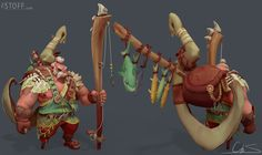 Barbarian Fisherman Garp, Christoph (The Stoff) Schoch Character Modeling, 3d Character, Character Design, 3d Modeling, Fantasy Races, Barbarian, Zbrush, Game Design, Game Art