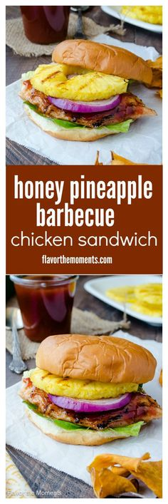 Honey Pineapple Barbecue Chicken Sandwich is grilled chicken smothered ...