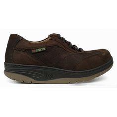 Zapato deportivo combinado en ante marrón y cuero de Sano by Mephisto vista lateral
