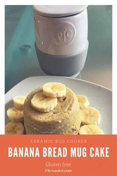 Banana nut mug cake using pampered chef Ceramic Egg Cooker  Www.Pamperedchef.Biz/ivelissepacheco