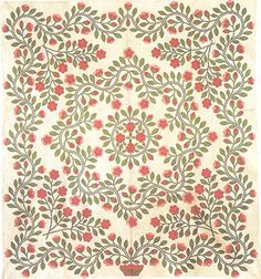 Barbara Brackman's MATERIAL CULTURE: Looking for Garden Quilts.   Just adore this layout and the border treatment.