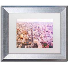 Trademark Fine Art 'Downtown San Francisco' Canvas Art by Ariane Moshayedi, White Matte, Silver Frame, Size: 11 x 14, Multicolor