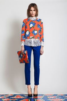 perfect pattern and bold pants pairing