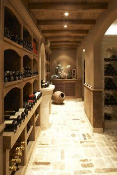 *Wine Cellar! I'd need a glass, a comfy chair, and a great book~