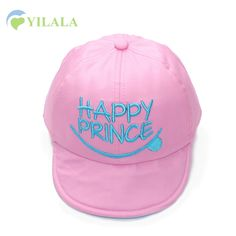 Fashion Smile Baby Cap Letter Embroidery Baseball Cap Cotton Solid Children Hat 0-3Y Boys Girls Summer Hat Baby Accessories 2017