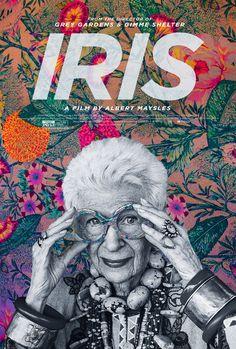 US one sheet for IRIS (Albert Maysles, USA, 2014) Designer: Gravillis Inc.; photo: Bruce Weber Poster source: IMPAwards R.I.P. Albert Maysles. Long live Iris Apfel!