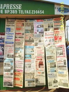 Newspaper Stand in Yaounde, #Cameroon #media