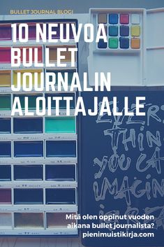 Neuvoja bullet journal -aloittelijalle vuoden bujoilun jälkeen #kalenteri #bulletjournal